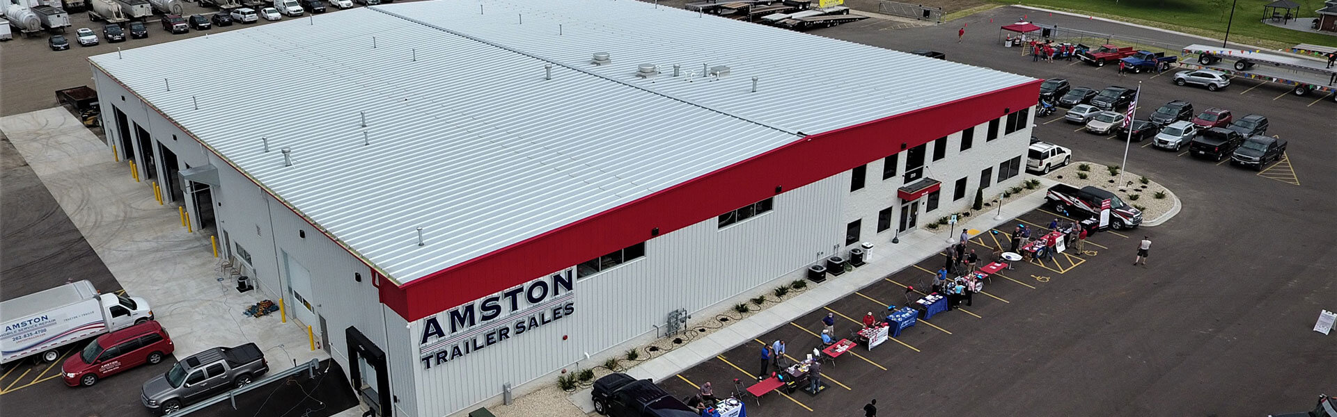 Amston Trailer Sales Drone Shot